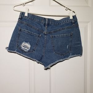 Free People Shorts - FREE PEOPLE distressed, button fly jean shorts